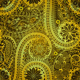 Vintage floral motif ethnic seamless background. Royalty Free Stock Image