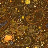 Vintage floral motif ethnic seamless background. Royalty Free Stock Photos