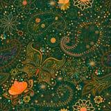 Vintage floral motif ethnic seamless background. Stock Photos