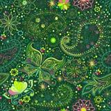 Vintage floral motif ethnic seamless background. Stock Images