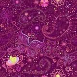 Vintage floral motif ethnic seamless background. Stock Photo