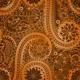 Vintage floral motif ethnic seamless background. Stock Image