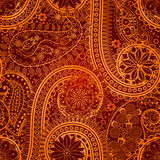 Vintage floral motif ethnic seamless background. Royalty Free Stock Photography