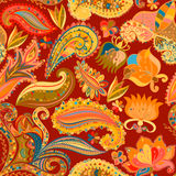Vintage floral motif ethnic seamless background. Stock Photo