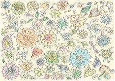Vintage floral motives Stock Photos