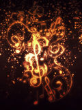 Vintage Floral Music Notes Royalty Free Stock Images