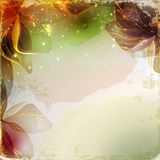 Vintage floral with old paper background Royalty Free Stock Photo