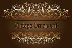 Vintage Floral Ornament Royalty Free Stock Image