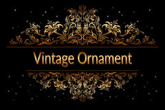 Vintage Floral Ornament Royalty Free Stock Photo