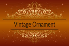 Vintage Floral Ornament Stock Photos