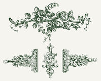 Vintage Floral Ornament Elements Royalty Free Stock Photos