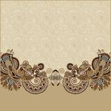 Vintage floral ornamental template on flower Royalty Free Stock Images