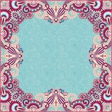 Vintage floral ornamental template on flower Royalty Free Stock Photo