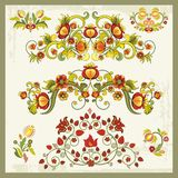 Vintage Floral Ornaments. Floral ornamental set in vintage style Royalty Free Stock Photos