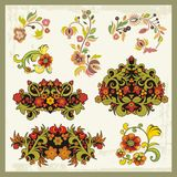 Vintage Floral Ornaments. Floral ornamental set in vintage style Royalty Free Stock Images