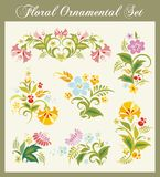 Vintage Floral Ornaments. Floral ornamental set in vintage style Stock Image