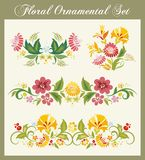 Vintage Floral Ornaments. Floral ornamental set in traditional Russian style Royalty Free Stock Images
