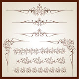 Vintage floral ornaments. For print Royalty Free Stock Image