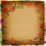 Vintage floral paper Stock Images
