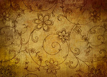 Vintage floral paper with grunge effect. Background Stock Images