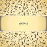 Vintage floral pattern with aged effect Royalty Free Stock Photo