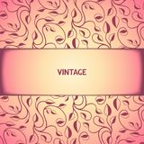 Vintage floral pattern with aged effect Royalty Free Stock Images