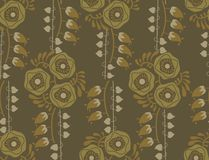 Vintage floral pattern art nouveau style Stock Photo