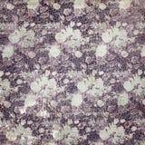 Vintage floral pattern. A dark antique vintage floral wallpaper stock photos