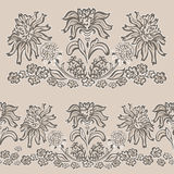 Vintage floral pattern fancy flower Royalty Free Stock Images