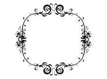 Vintage floral pattern frame. Black wedding frame silhouette template. Vintage floral pattern mock up vector illustration. Greeting invitation border design Royalty Free Stock Photos
