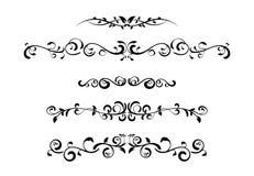Vintage floral pattern frame. Set black wedding frame silhouette template. Vintage floral pattern mock up vector illustration. Greeting invitation border design Stock Photos