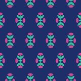 Vintage floral pattern inspired by The Grammar of Ornament Royalty Free Stock Photo