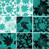 Vintage floral pattern with leafs Stock Photos