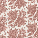 Vintage floral  pattern with roses. Royalty Free Stock Images