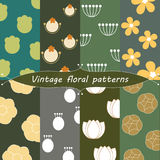 Vintage floral patterns Royalty Free Stock Photo