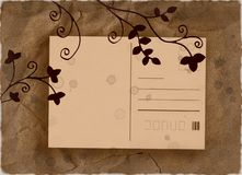 Vintage floral post card Royalty Free Stock Photo