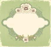 Vintage floral postcard Stock Image
