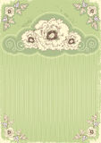 Vintage floral postcard Stock Photos