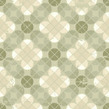 Vintage floral quatrefoil seamless pattern, vector geometric abs Stock Image