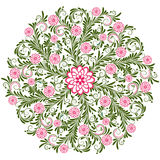 Vintage floral round pattern Royalty Free Stock Photo