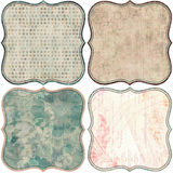 Vintage Floral Scrapbook Background Stock Photos