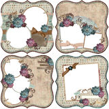 Vintage Floral Scrapbook Background Royalty Free Stock Photos