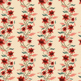 Vintage floral seamless background Stock Photos