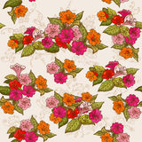 Vintage Floral Seamless Background Stock Image