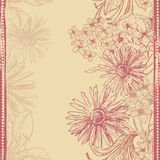 Vintage floral seamless banner Stock Photo