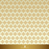 Vintage Floral seamless ornate patterns. Gold with beige. Vector illustration Stock Photo