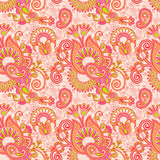 Vintage floral seamless paisley pattern Stock Images