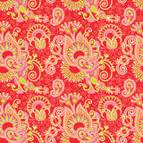 Vintage floral seamless paisley pattern Stock Image