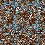 Vintage floral seamless paisley pattern Stock Photos