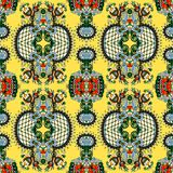 Vintage floral seamless paisley pattern Stock Photography